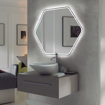 COLETTE  กระจกไฟทรงหกเหลี่ยม 3 x75 x 75 ซม. M0027