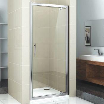 บานสวิง กระจกใส สีโครมเงา1บาน LAGATO 100x190 ซม. NS9-10