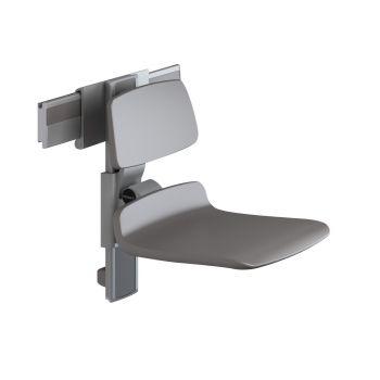 PLUS-เก้าอี้อาบน้ำ450 สีขาวปรับสูง/แนวนอน+พนักพิง รางสีANT.R7440112000